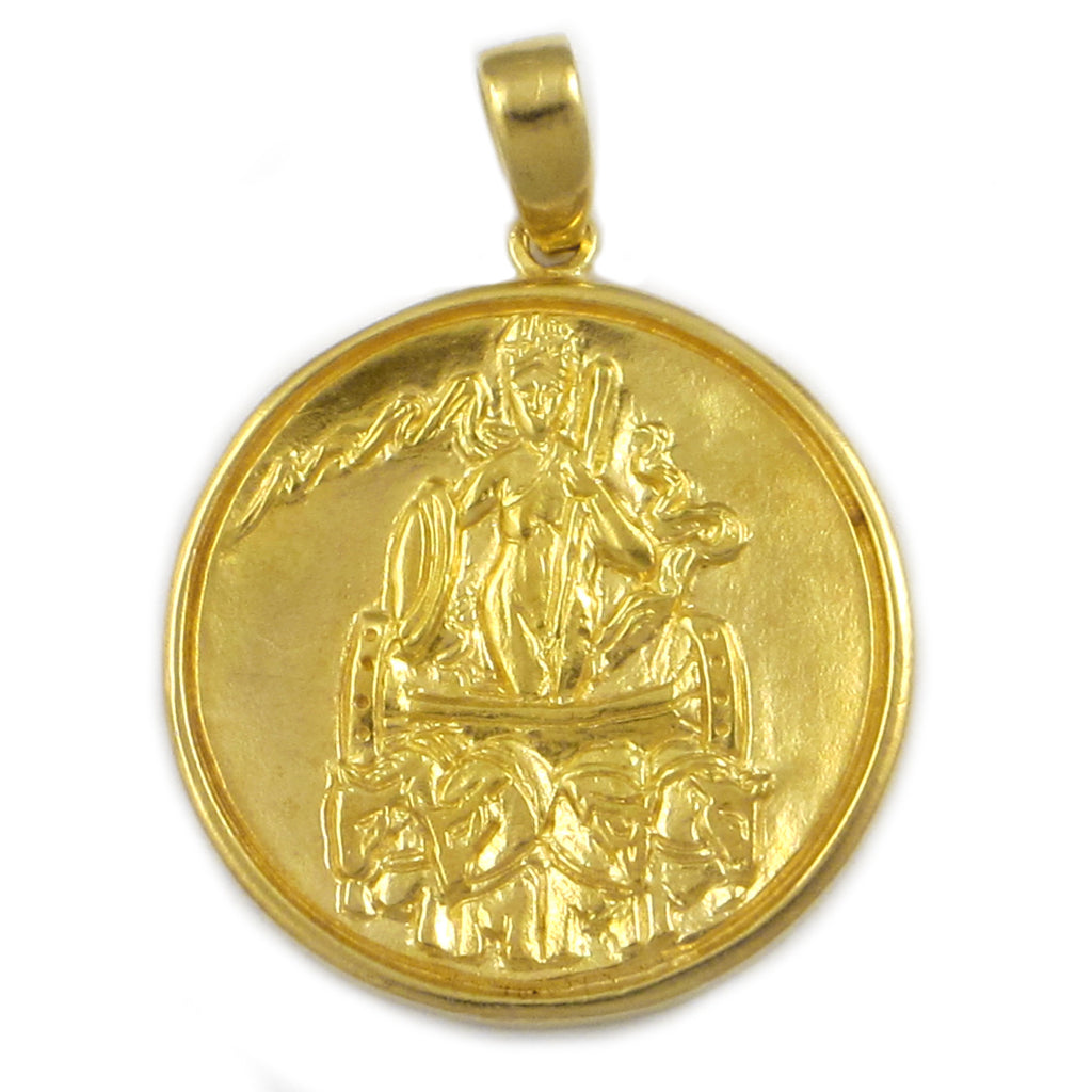 Sun-Uranus World Point in Aries Metal Talisman - 18k Gold Plated