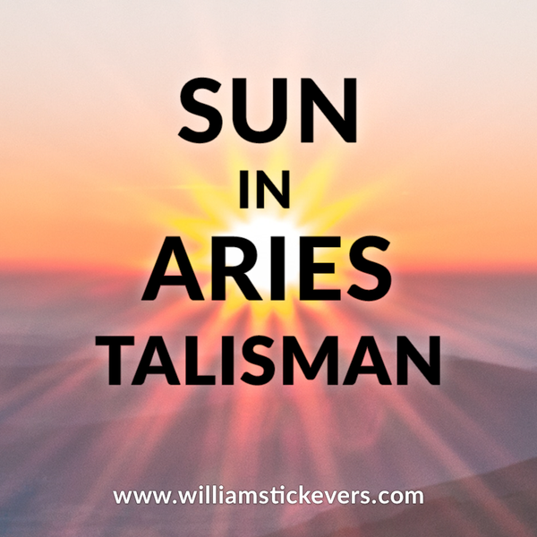 Sun in Aries Paper Talisman - March 2019
