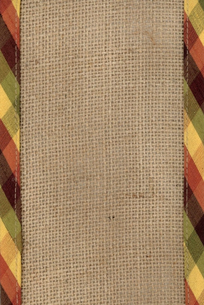 Checkered Edge Burlap