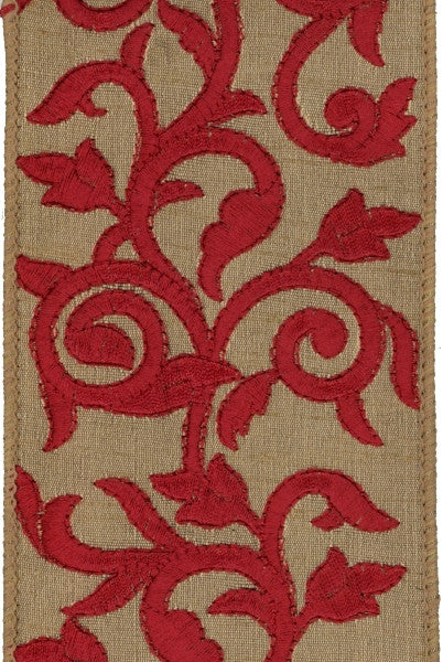 Embroirdered Antique Ribbon