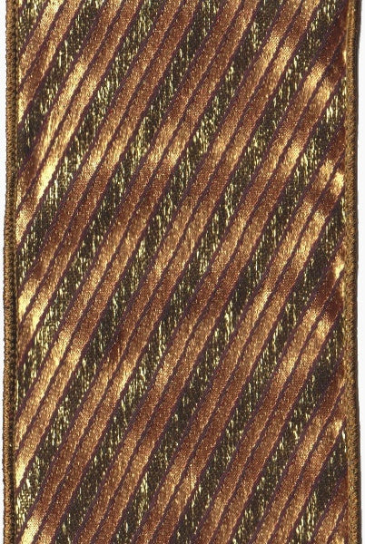 Metallic Striped Brown/Dark Gold