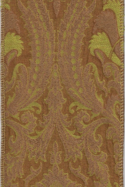 Metallic Jacquard Renaissance Copper/Green/Gold