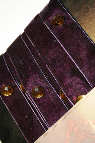 Purple & Gold Button Trim