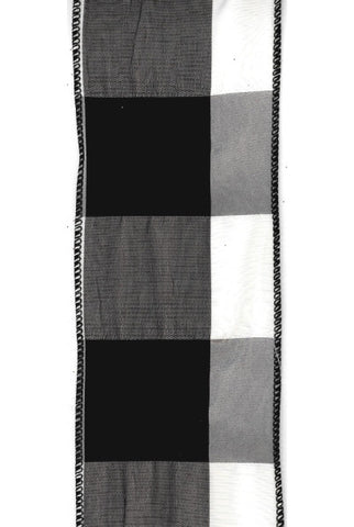 Black/ White Tafetta Checkered Ribbon