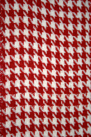 Red & White Houndstooth