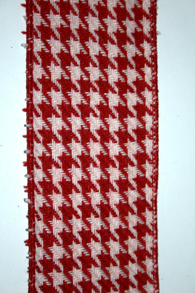Red & White Houndstooth Small