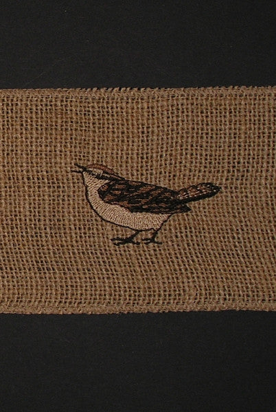 Embroidered Spring Burlap