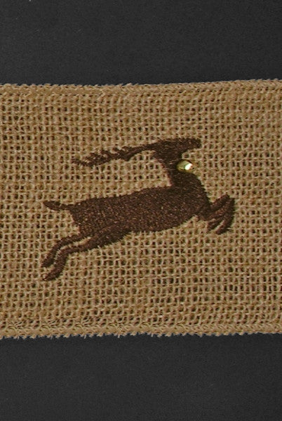 Reindeer on Burlap