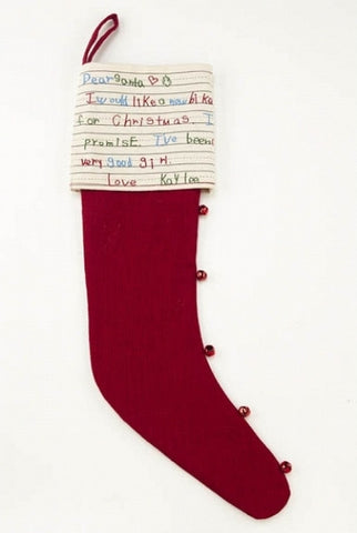 c Dear Santa Stocking