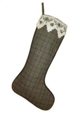 Christmas Stocking, Glen Plaid
