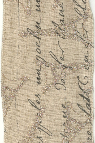 Tower Eifel and French Script Ribbon