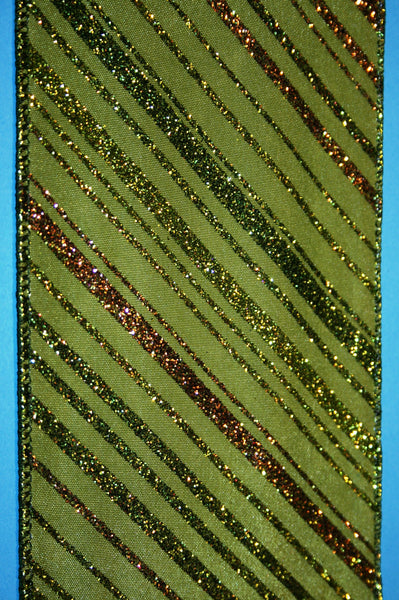 Glitter Striped Taffeta