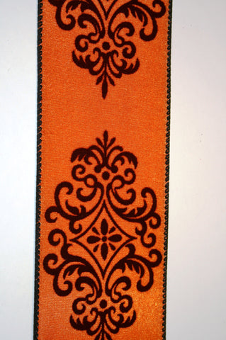 Orange Taffeta w/Black Medallions