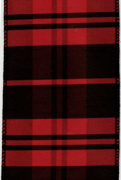 Polyester Plaid Ribbon Red and Black
