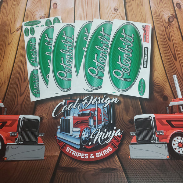 In-Stock Special - Green White Fade Peterbilt Emblem Skin Full Interior Exterior Kit
