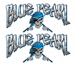 36 x 16 in Blue Pearl Boat Decals