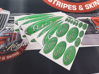 In-Stock Special - Green and Chrome Peterbilt Emblem Skin Full Interior Exterior Kit