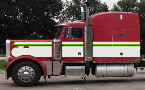 379/389 Citris Green and Pearl Seminole Peterbilt Stripe Kit