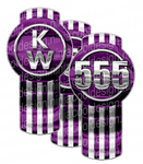 Unit 555 Vertical Purple Kenworth Emblem Skin Kit