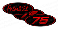 Unit Number 75 Matte Finish Peterbilt Emblem Skins