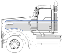 Shortened Kenworth W9 Factory Seminole Stripe