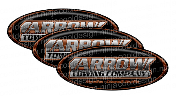 Black and Copper Arrow Towing Peterbilt Emblem Skins