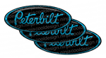Black and Turquoise Peterbilt Emblem Skins