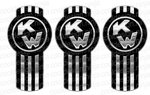 Black Kenworth Emblem Skin Kit