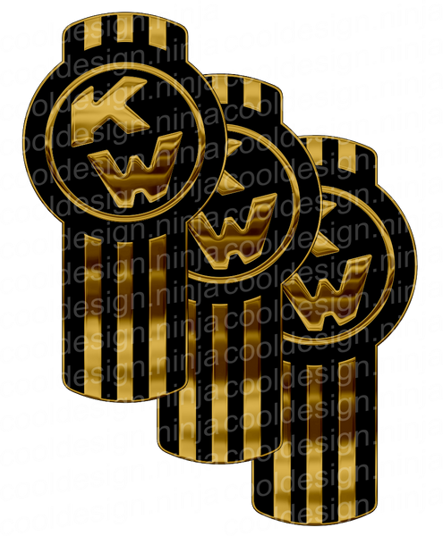 Black and Gold Kenworth Kit Emblem Skins