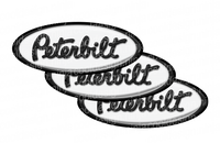 Black and White Peterbilt Emblem Skins