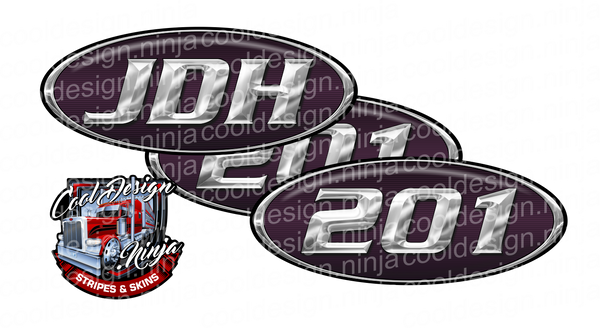 JDH Unit 201 Black Cherry Peterbilt Emblem Skins