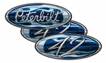 Unit 42 Blue Chrome Peterbilt Emblem Skins