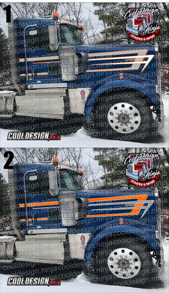 Nested Scallop Kenworth Stripe Kit