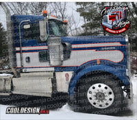 Daycab Seminole Kenworth W9 Stripe Kit