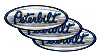 Blue and Chrome Peterbilt Emblem Skins