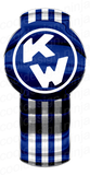 Dark Blue/White Kenworth Emblem Skin 3-Pack