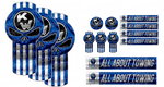 All About Towing Blue Punisher Kenworth Emblem Skin Kit