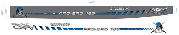 Pro Bro 169 Boat Decal Kit
