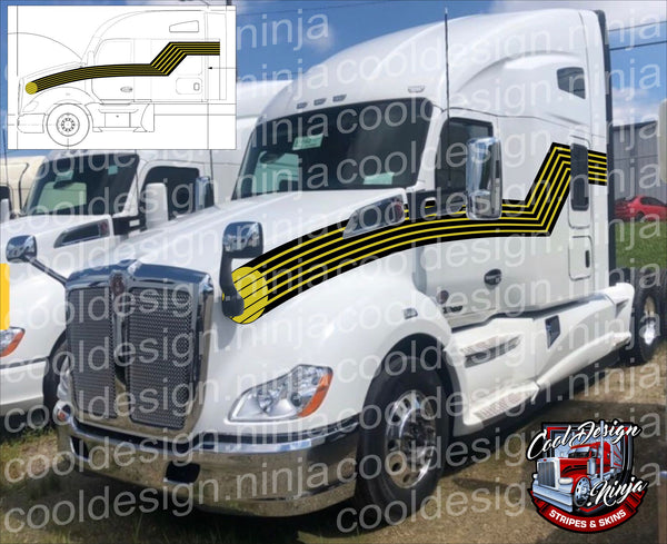 Secret Agent Man T680 Kenworth Stripe