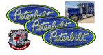 Bright Green Viper Blue Peterbilt Emblem Skins