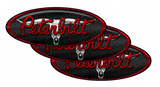 Red/Black Bull Skull Peterbilt Emblem Skins