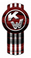3-Pack of Burgundy Kenworth Emblem Skins