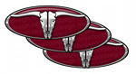 6-Pack of Burgundy Steerhead Pete Emblem Skins