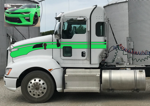Camaro Green Kenworth T660 Flying Seminole Stripe