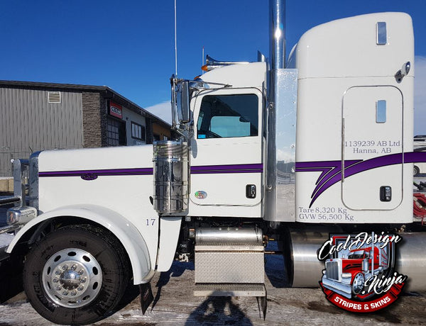 "Short hood Peterbilt 389 ""Flying Z"" Stripe Kit"