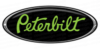 3-Pack of Green/Chrome/Black Peterbilt Emblem Skins