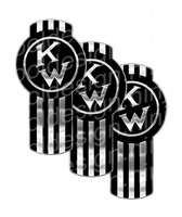 Classic Black Kenworth Emblem Skin Kit