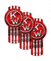 Classic Red Kenworth Emblem Skin Kit