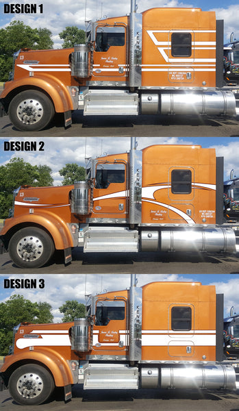 Custom Copper Kenworth W9 Stripe Kits