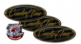 Gold and Black Country Time Peterbilt Emblem Skins